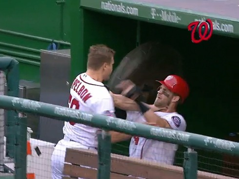 bryce-harper-and-nationals-pitcher-jonathan-papelbon-got-into-an-ugly-brawl-in-the-dugout